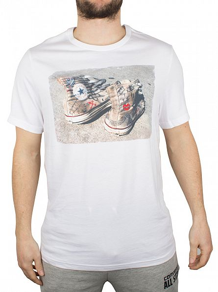Converse White Graffiti Trainers Graphic T-Shirt
