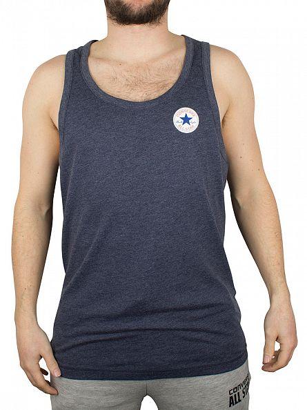 Converse Blue Marl Left Logo Marled Vest