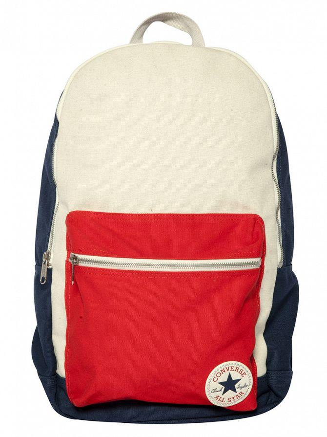Converse Navy/Natured Panel Logo Backpack