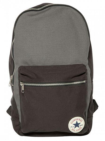 Converse Black/Charcoal Panel Logo Backpack