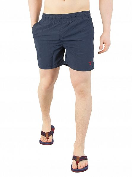 Gant Navy Basic Logo Swim Shorts