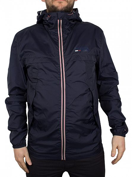 Hilfiger Denim Navy Blazer HD Nylon Logo Jacket