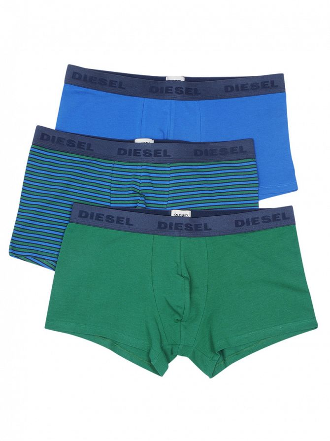 Diesel Green/Blue 3 Pack Seasonal Boxer Trunks