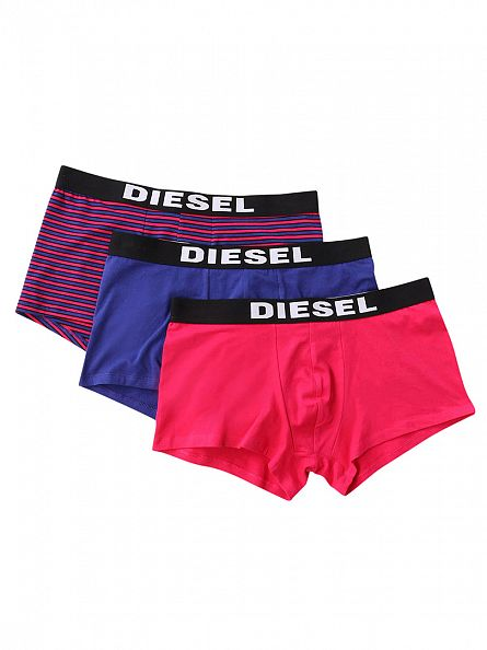 Diesel Pink/Purple 3 Pack Seasonal Boxer Trunks
