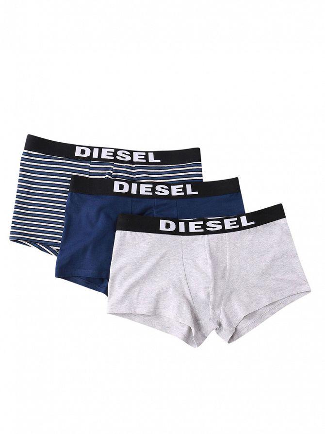 Diesel Blue/Grey 3 Pack Seasonal Boxer Trunks