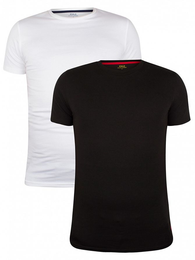Polo Ralph Lauren Black/White 2 Pack Stretch Cotton T-Shirts