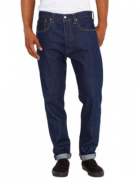 Levi's Dark Denim 501 Original Fit Customized Tapered Celebration Jeans