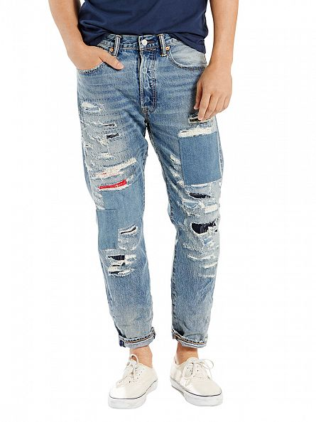 Levi's Light Wash 501 Original Fit Tapered Adnan The Tail Jeans