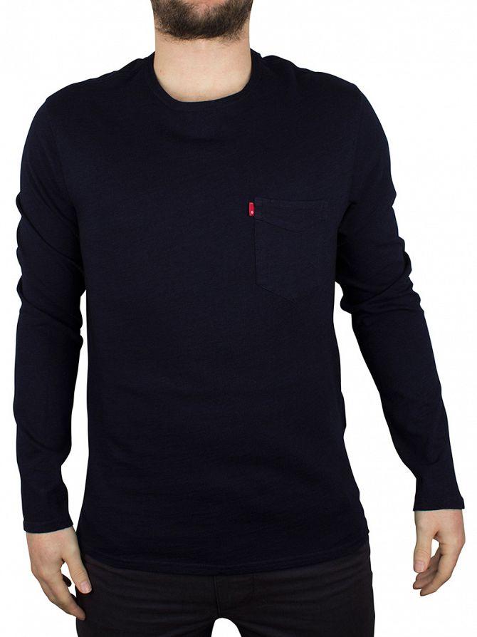 Levi's Indigo Longsleeved Sunset Pocket Sweatshirt