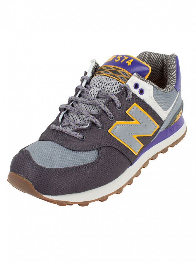 New Balance Grey/Multi 574 Trainers