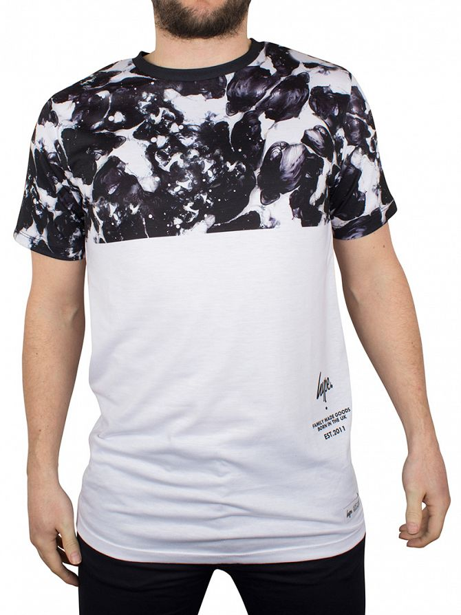 Hype White/Black Monotone Top Panel T-Shirt