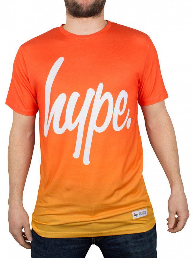 Hype Orange Fade Logo T-Shirt