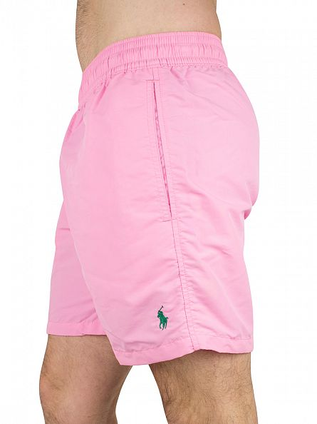 Polo Ralph Lauren Harbor Pink Hawaiian Logo Swim Shorts