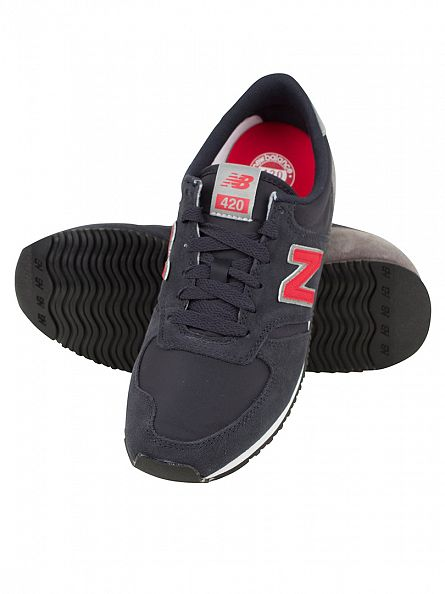 New Balance Navy/Red 420 Trainers