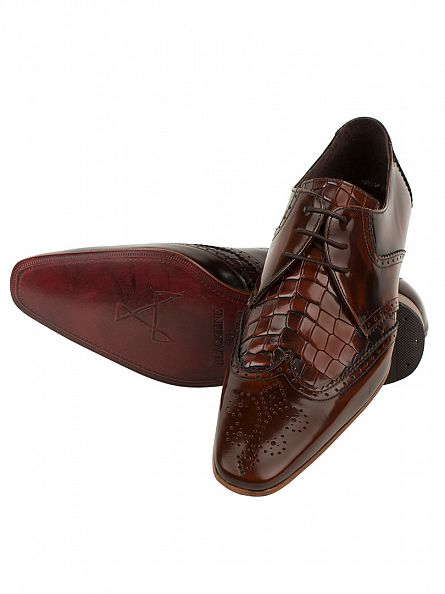 Jeffery West Mid Brown College Escoba Mid Brown Leather Shoes