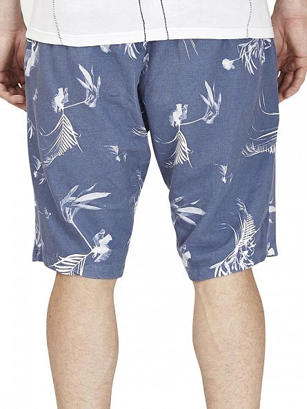 Religion Moody Blue Dark Palm Shorts