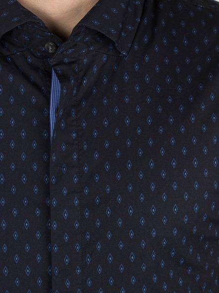 Scotch & Soda Navy Shortsleeved Dress Shirt