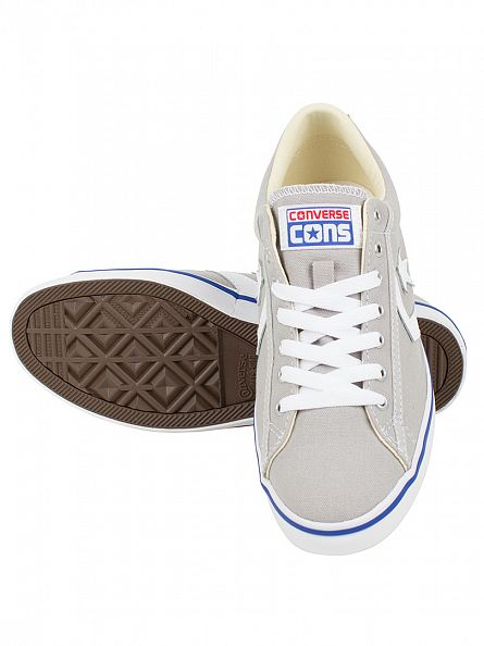 Converse Ash Grey/White Star Player LP OX Trainers