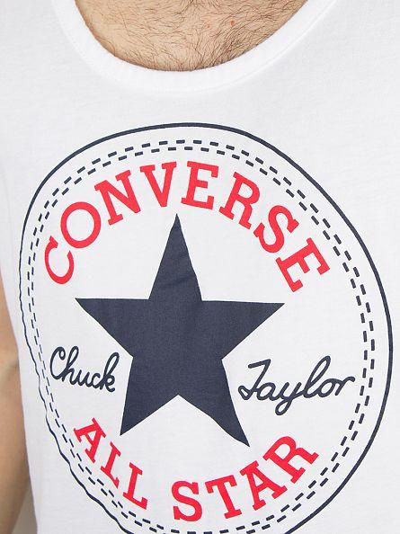 Converse White Largo Logo Stamp Vest