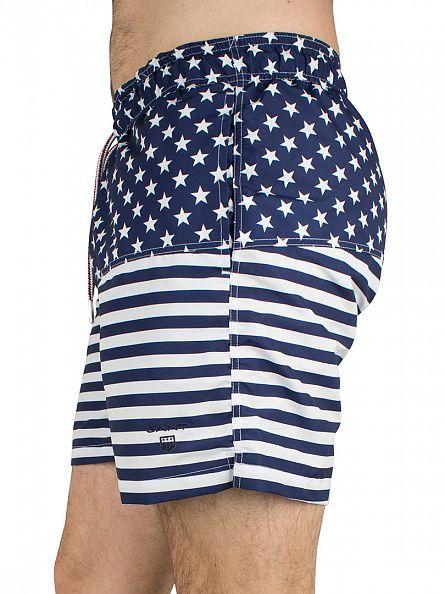 Gant Navy Stars & Stripes Swim Shorts