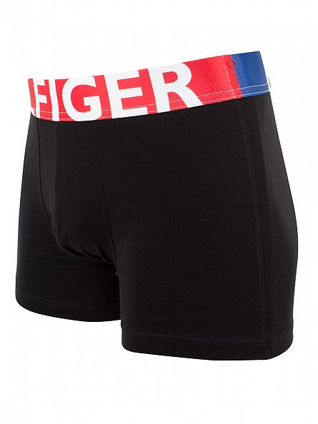 Tommy Hilfiger Black Bold Cotton Stretch Logo Trunks