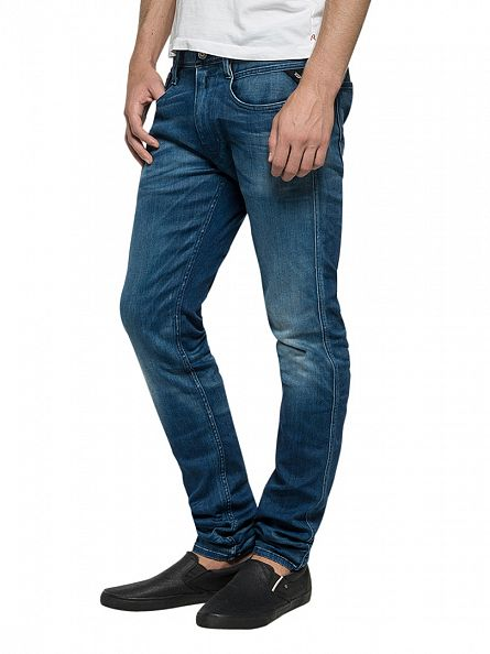 Replay Light Denim Anbass Slim Fit Jeans