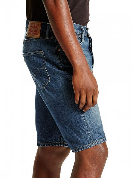 Levi's Medium Wash 501 Original Fit Hemmed El Paso Shorts