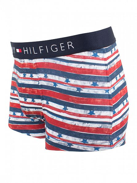Tommy Hilfiger Navy Blazer Icon Low Rise Painted Stripes Trunks