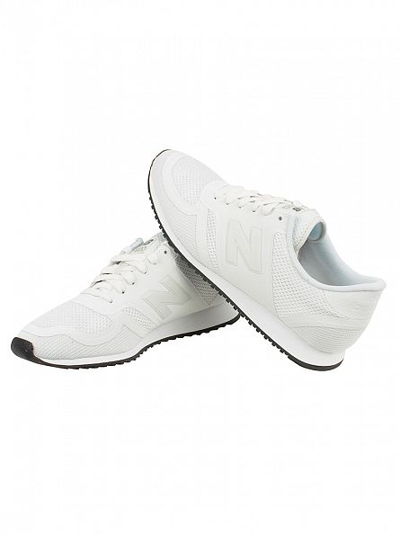 New Balance White/Grey 420 Trainers