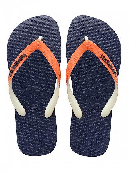 Havaianas Navy/Orange Top Mix Flip Flops