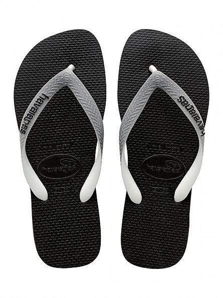 Havaianas Black/Steel Grey Top Mix Flip Flops