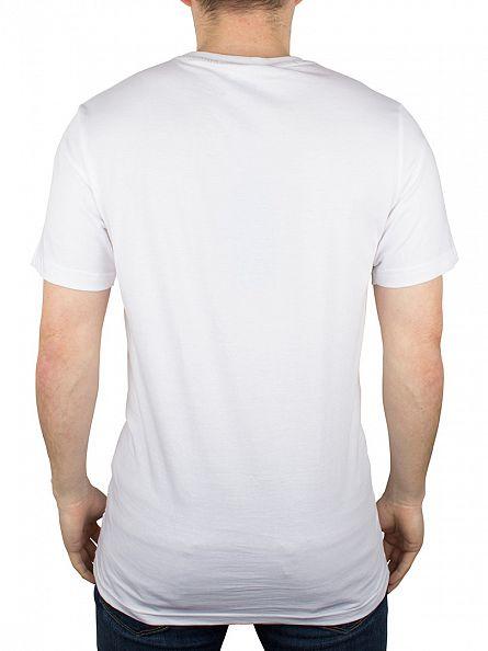 Hype White/Black Breast Mini Script T-Shirt