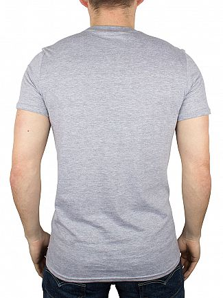 Hype Grey/Black Breast Mini Script T-Shirt