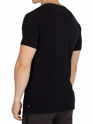 Diesel Black V-Neck Logo T-Shirt