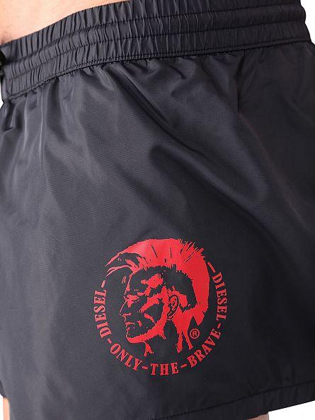 Diesel Black Only The Brave Logo Swim Shorts