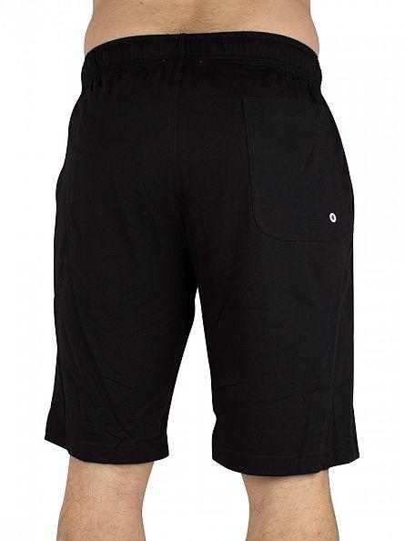 Calvin Klein Black Vertical Logo Jersey Shorts