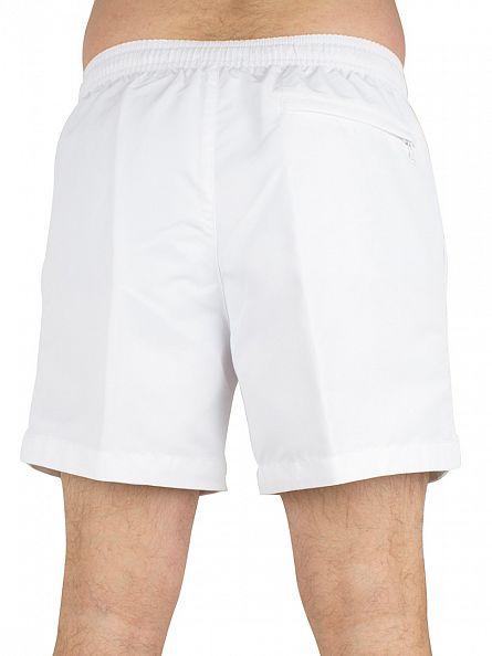 Calvin Klein White/Grey Medium Drawstring Logo Swimshorts