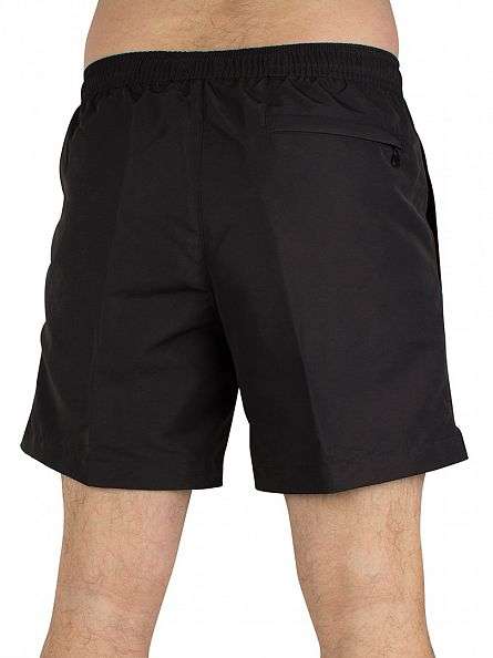 Calvin Klein Black Medium Drawstring Logo Swimshorts