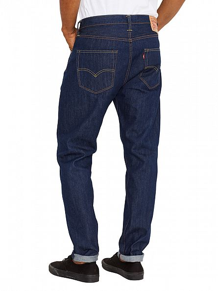 Levi's Dark Denim 501 Original Fit Customized Tapered Celebration Jeans