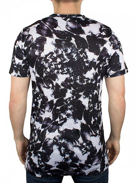 Hype White/Black Monotone All Over T-Shirt