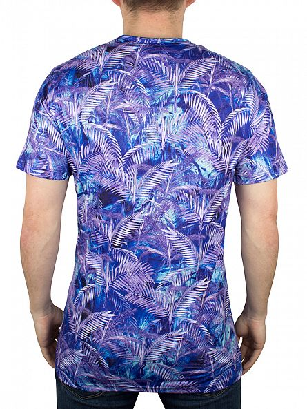 Hype Multi Blue Palm Sublimation T-Shirt
