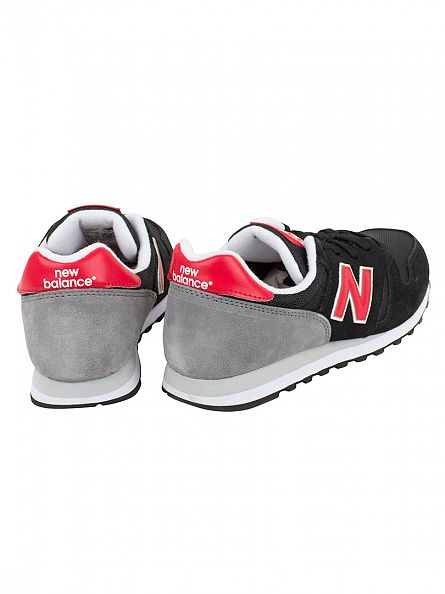 New Balance Black/Red 373 Trainers