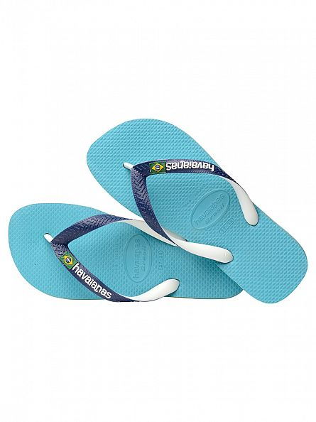Havaianas Blue Brasil Mix Flip Flops