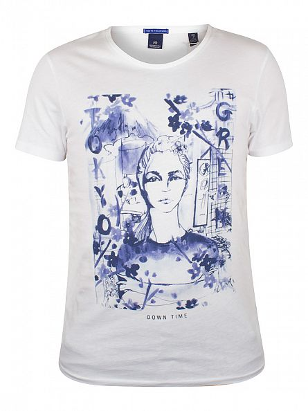 Scotch & Soda White Graphic T-Shirt
