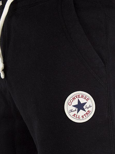 Converse Black Left Logo Sweat Shorts