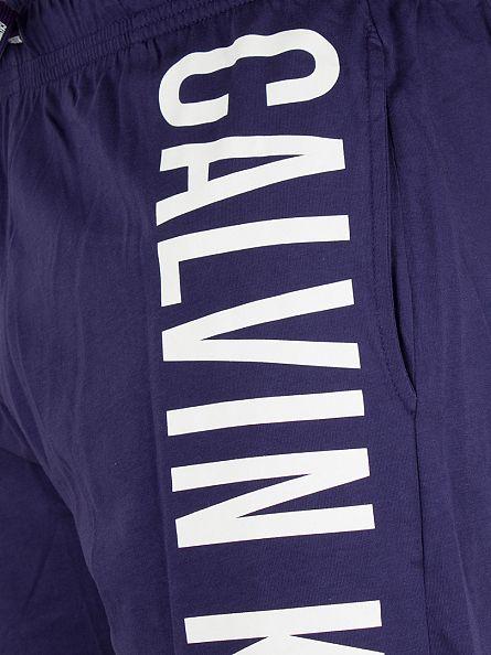 Calvin Klein Astral Aura/White Vertical Logo Jersey Shorts