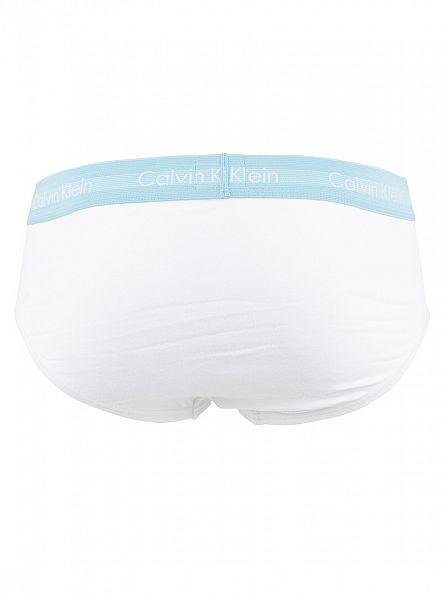 Calvin Klein White 3 Pack Cotton Stretch Hip Briefs
