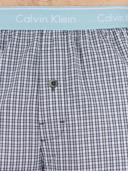 Calvin Klein Blue Logo Waistband Check Bridge Pyjama Bottoms
