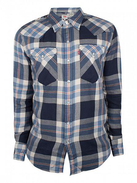 Levi's Dress Blue Barstow Western Mine Creek Shirt