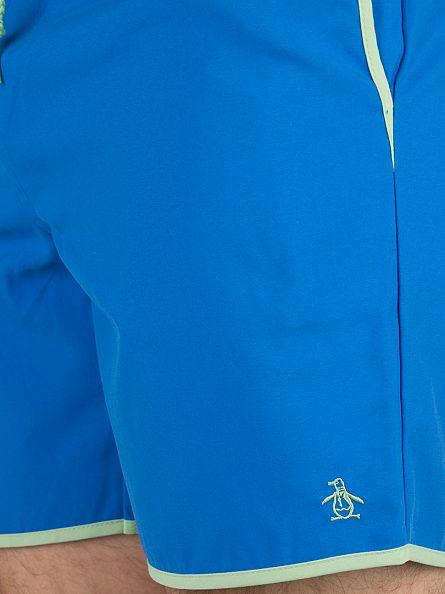 Original Penguin Directoire Blue Elastic Earl Logo Swimshorts
